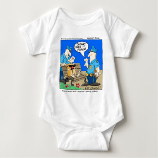 Suspicious Package Funny Police Cartoon Gifts Baby Bodysuit