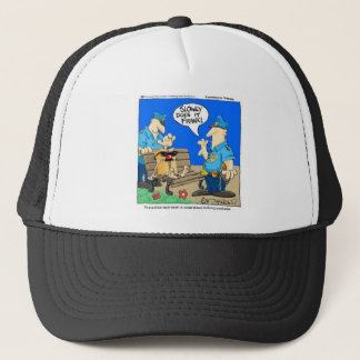 Suspicious Package Funny Police Cartoon Gifts Trucker Hat