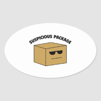 Suspicious Package Oval Sticker