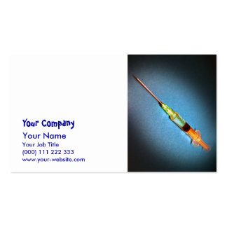Suspicious syringe business cards