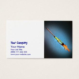 Suspicious syringe business card