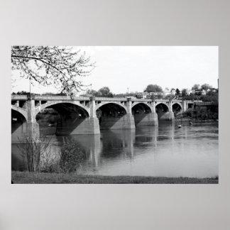 susquhanna bridge canvas print