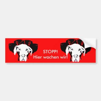 Süße Dogge in weiß Bumper Sticker
