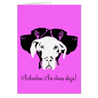 Süße Dogge in weiß Card