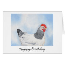 Sussex Chicken Birthday Card