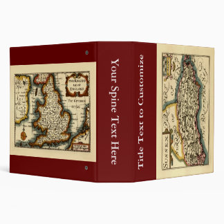 Sussex County Map, England Binder