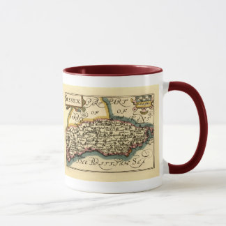 Sussex County Map, England Mug