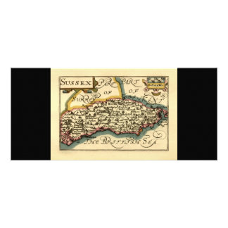 Sussex County Map, England Rack Card