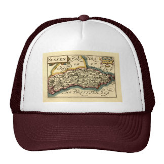 Sussex County Map, England Trucker Hat