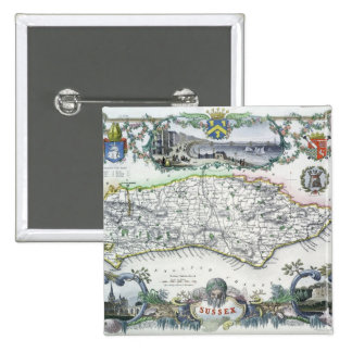 Sussex, engraved by W. Schmollinger Pinback Button