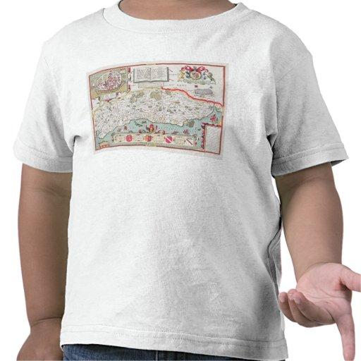Sussex, grabado por Jodocus Hondius de Juan Camiseta
