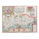 Sussex, grabado por Jodocus Hondius de Juan Postal