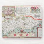 Sussex, grabado por Jodocus Hondius de Juan Alfombrillas De Ratones