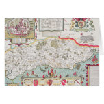 Sussex, grabado por Jodocus Hondius de Juan Tarjeton
