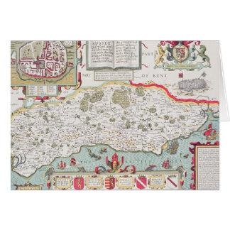 Sussex, grabado por Jodocus Hondius de Juan Tarjeta De Felicitación