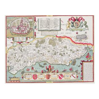 Sussex, grabado por Jodocus Hondius de Juan Tarjetas Postales