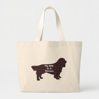 Sussex SPANIEL BFF Giffts Large Tote Bag