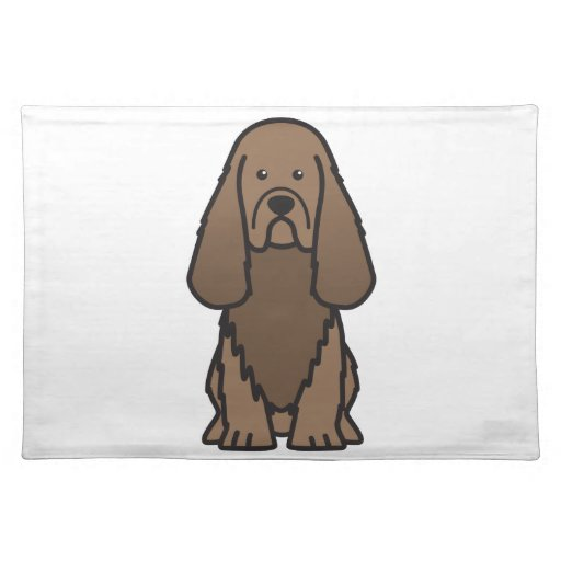 Sussex Spaniel Dog Cartoon Place Mat
