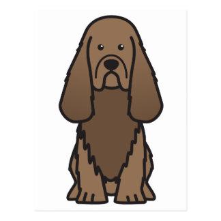 Sussex Spaniel Dog Cartoon Postcard