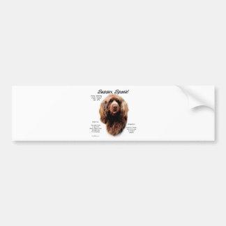 Sussex Spaniel History Design Bumper Sticker