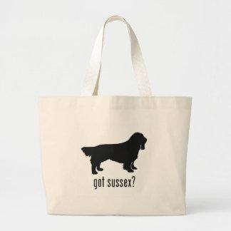 Sussex Spaniel Large Tote Bag