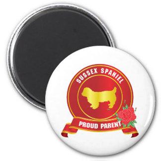 Sussex Spaniel 2 Inch Round Magnet