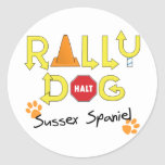 Sussex Spaniel Rally Dog Round Stickers