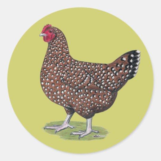 Sussex:  Speckled Hen Classic Round Sticker