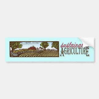 Sustainable Agriculture farm scene Bumper Sticker Car Bumper Sticker