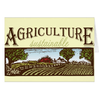 Sustainable Agriculture farm scene Greeting Card