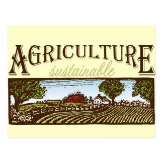 Sustainable Agriculture farm scene Postcard