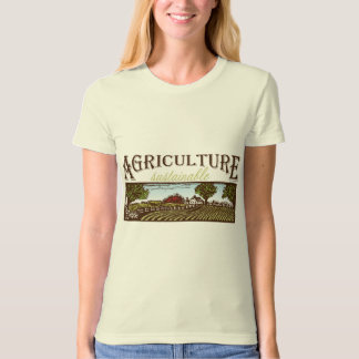 Sustainable Agriculture farm scene T-Shirt