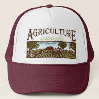 Sustainable Agriculture farm scene Trucker Hat