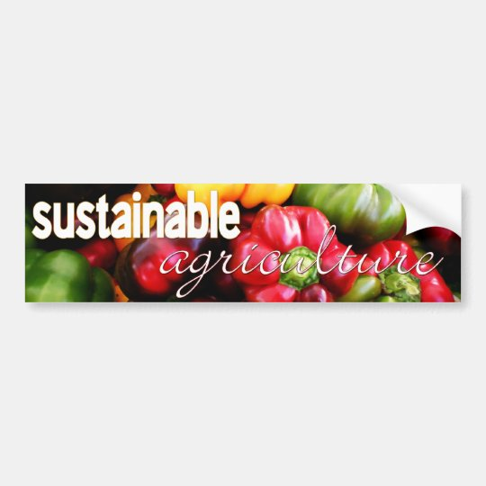 Sustainable Agriculture Vegetable Bumper Sticker