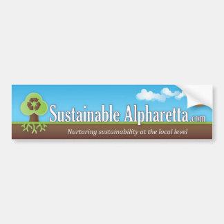 Sustainable Alpharetta Bumper Sticker