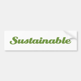 Sustainable Bumper Sticker