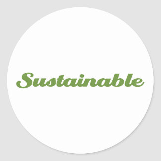 Sustainable Classic Round Sticker