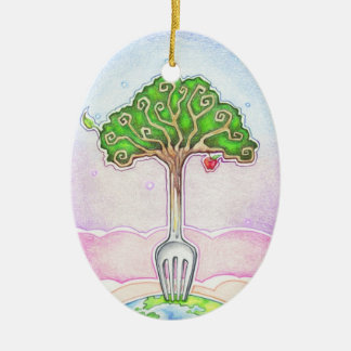 SUSTAINABLE, FOOD FOR LIFE CERAMIC ORNAMENT