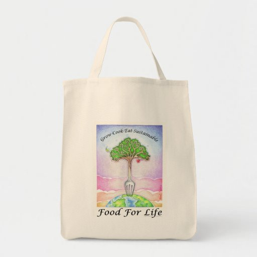 SUSTAINABLE, FOOD FOR LIFE TOTE BAG