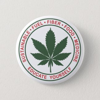 Sustainable Hemp - Educate Yourself Button