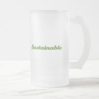 Sustainable 16 Oz Frosted Glass Beer Mug