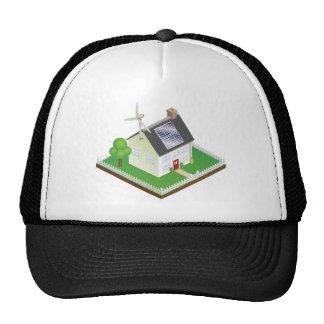 Sustainable renewable energy house mesh hats