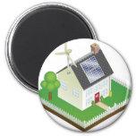 Sustainable renewable energy house refrigerator magnets