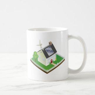 Sustainable renewable energy house mug