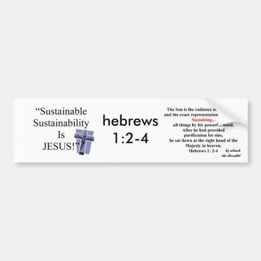Sustainable Sustainability Bumper Sticker