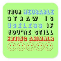 Sustainable Vegan Sticker