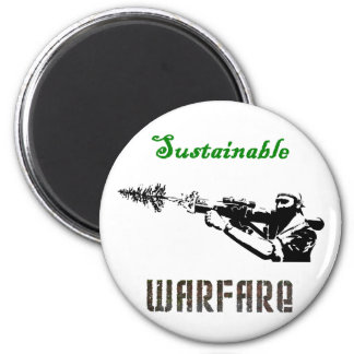 """Sustainable Warfare"" Magnet"