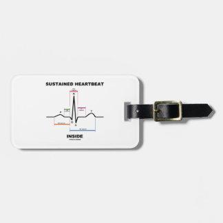 Sustained Heartbeat Inside (ECG/EKG) Bag Tags