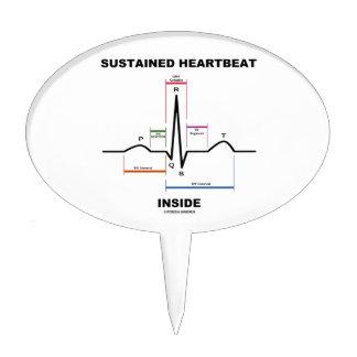 Sustained Heartbeat Inside (ECG/EKG) Cake Topper
