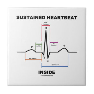Sustained Heartbeat Inside (ECG/EKG) Ceramic Tile